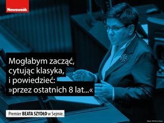 """Szydło cytuje """"Ucho prezesa"""", a PiS zostaje porównane do Rosji, czyli cytaty tygodnia"""