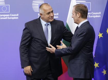 Prime Minister of Bulgaria Boyko Borisov at the EU Council headquarters in Brussels