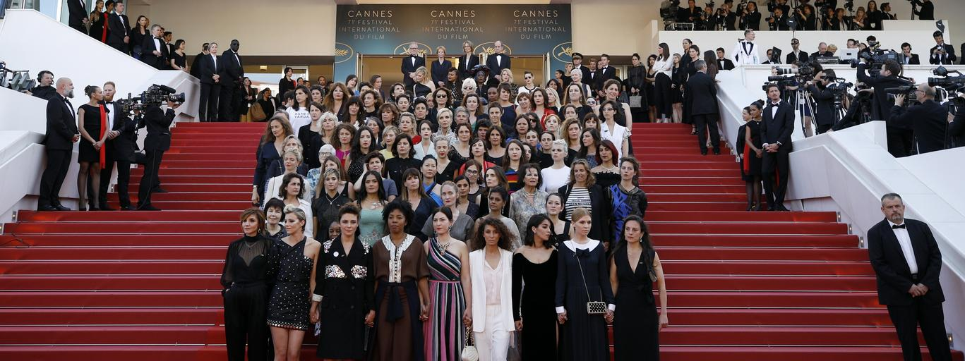 protest kobiet w Cannes
