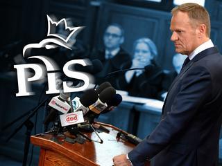 Donald Tusk PiS sąd zeznania