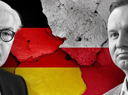 Frank-Walter Steinmeier i Andrzej Duda