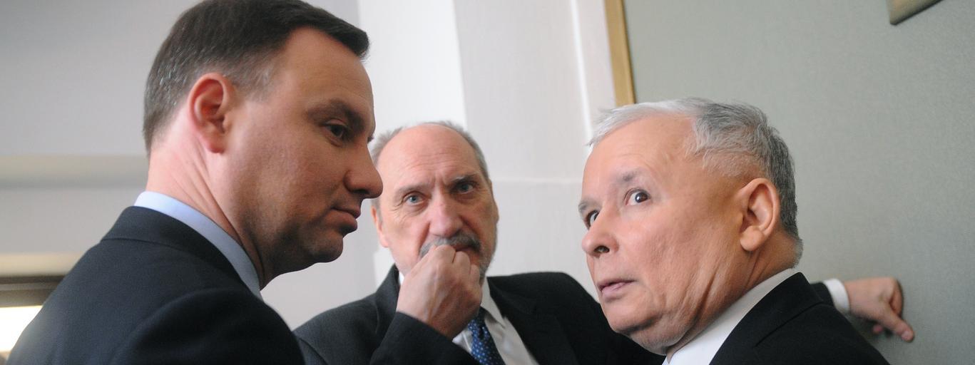 Andrzej Duda Jarosław Kaczyński Antoni Macierewicz polityka PiS Prawo i Sprawiedliwość