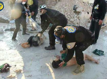 Atak chemiczny w prowincji Idlib. fot. Twitter