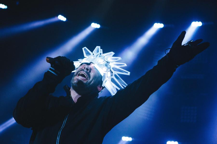Jamiroquai perform live at the Roundhouse in London