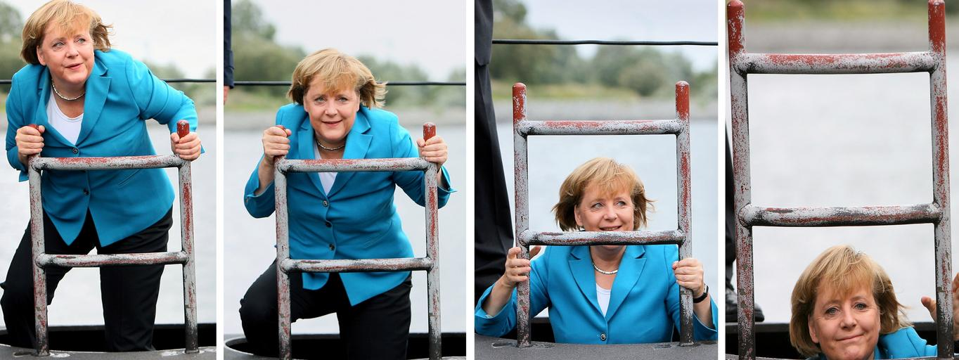 Merkel visits German navy fleet