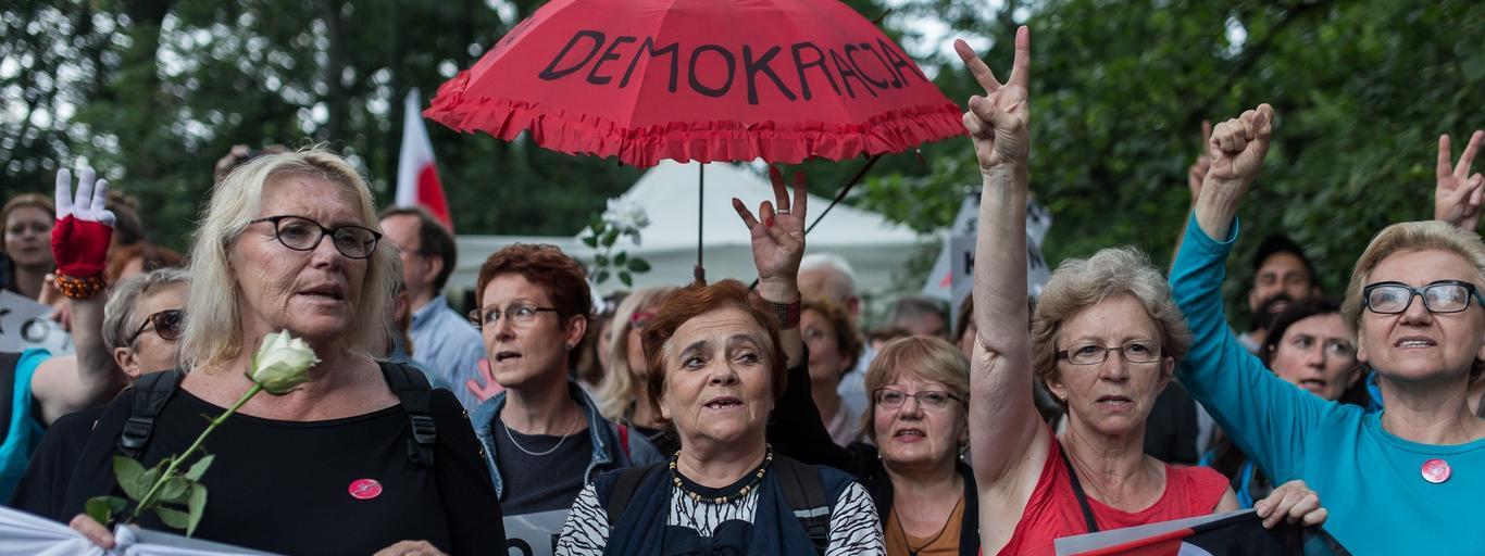 Protest przeciw zmianom w ustawie o Sadzie Najwyzszym