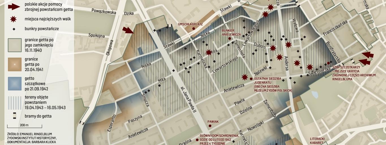 Mapa warszawskiego getta