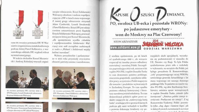 Broszura, którą otrzymywali uczestnicy konkursu o Żołnierzach Wyklętych.