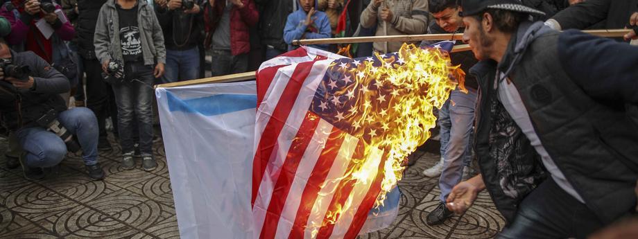 Anti US Protests in Gaza