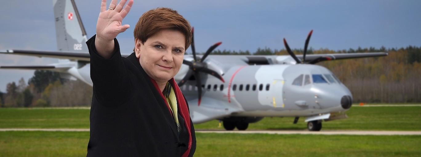 Beata Szydło i wojskowa CASA