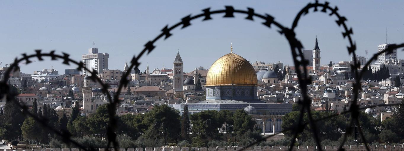 izrael jerozolima palestyna drut kolczasty