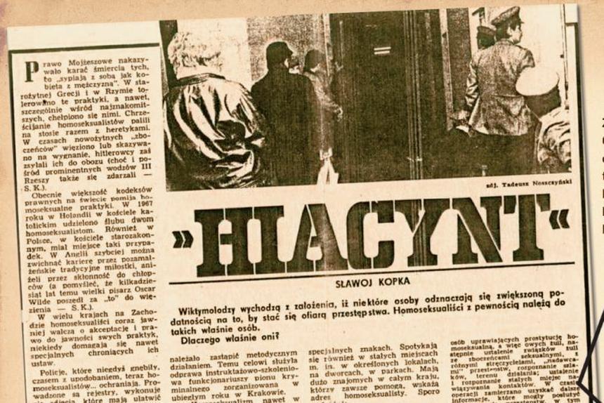 """Operacja """"Hiacynt"""" według tygodnika MSW """"W Służbie Narodu"""" (nr 2/1986). Fot. Wikipedia"""