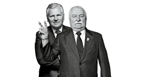 Kwaśniewski i Wałęsa