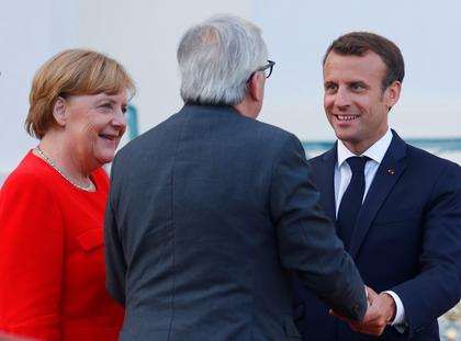 Angela Merkel, Emmanuel Macron, Jean-Claude Juncker