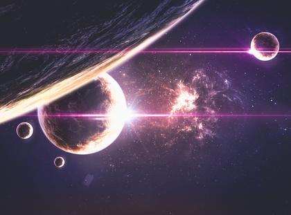 planety kosmos wszechświat mgławica
