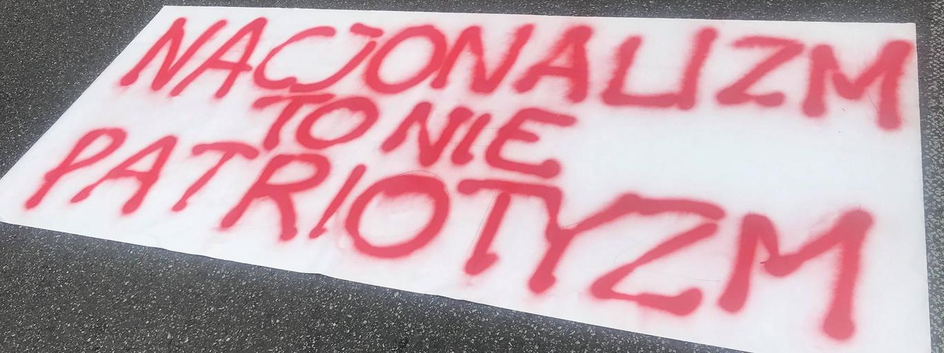 Protest przeciw nacjonalizmowi 15 VIII