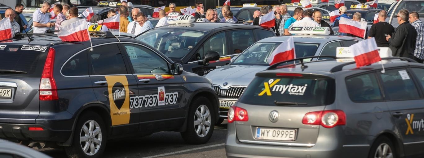 taksówkarze korki Warszawa