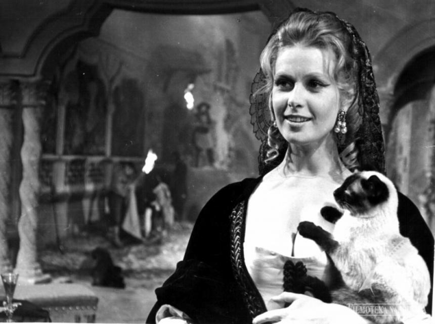 """W """"Popiołach"""" (1965) Andrzeja Wajdy aktorka wcieliła się w Elżbietę Gintułtównę."""