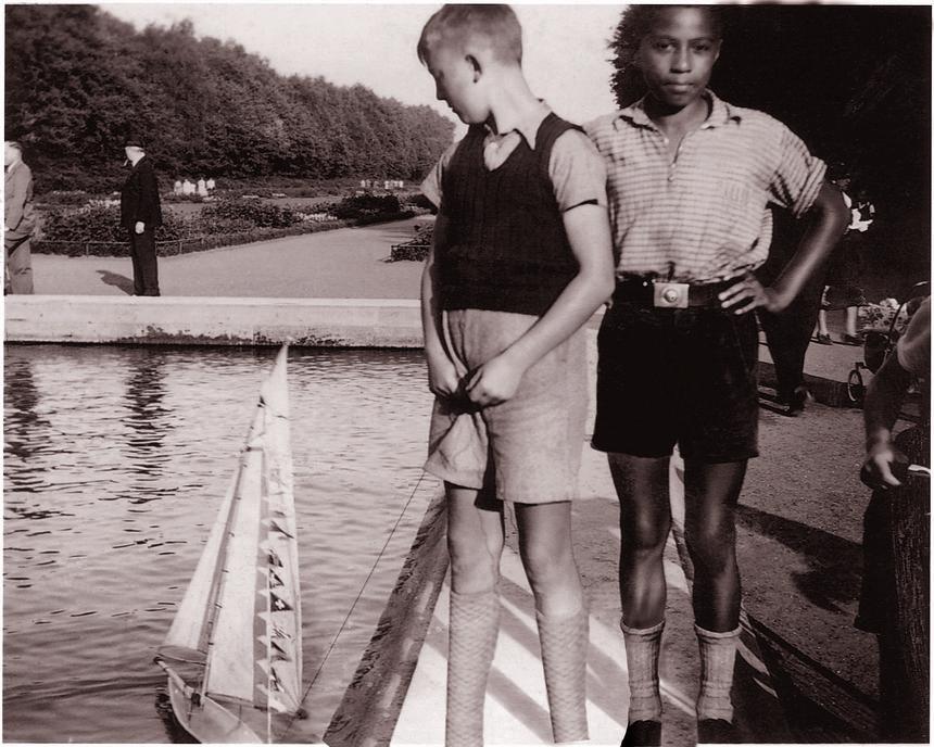 Hans-Jürgen z przyjacielem Karlem Moellem, Hamburg 1935 rok.