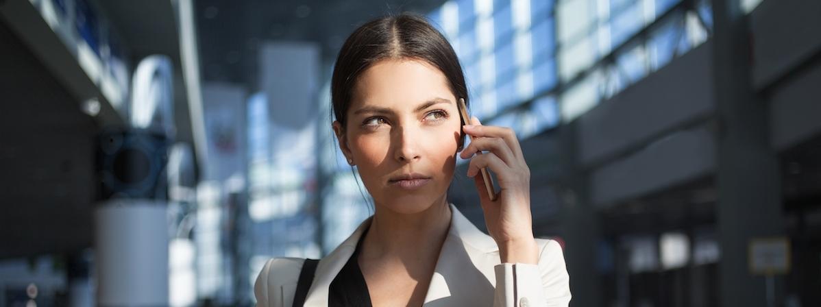 kobieta biznes przedsiębiorstwo telefon