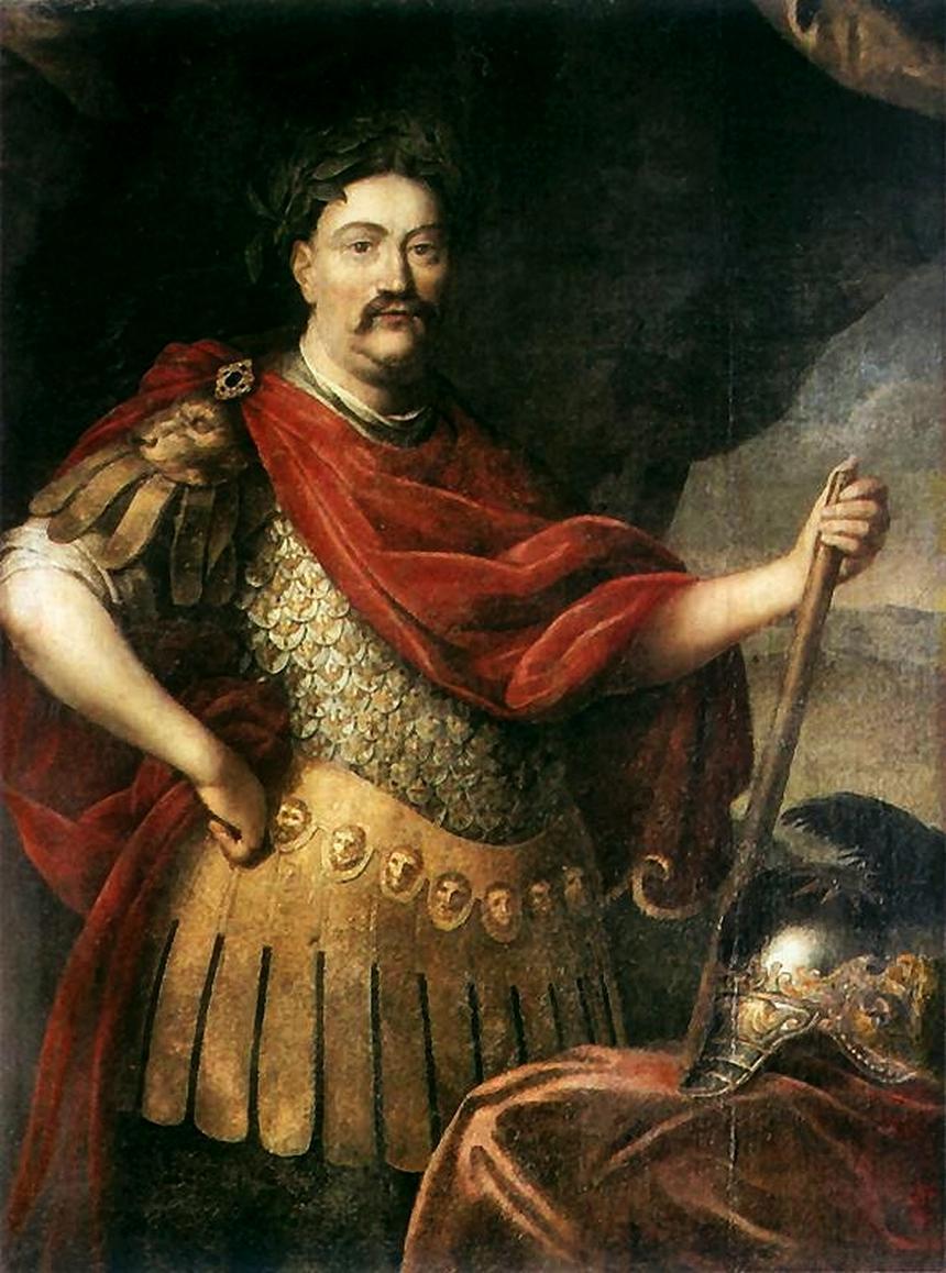 Portret Jana III Sobieskiego w stroju rzymskim pędzla Daniela Schultza