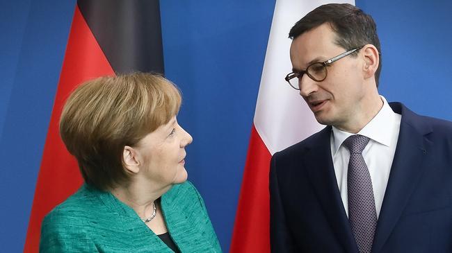 Angela Merkel Mateusz Morawiecki polityka dyplomacja Niemcy Polska