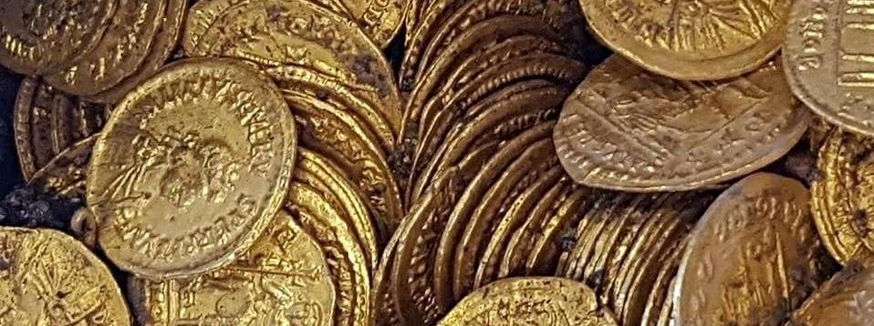 Starożytne złote monety odnalezione we Włoszech