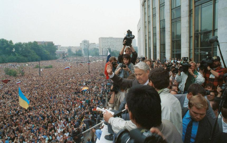 20 sierpnia 1991 r. Przemowa Borysa Jelcyna.