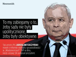 """Kaczyński """"zabiega o wolne sądy"""". A my zebraliśmy najlepsze cytaty tygodnia"""