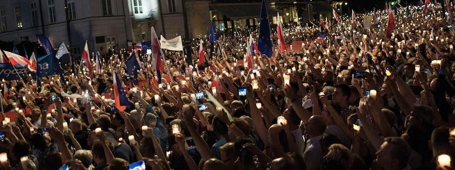 Demonstracje protesty Sąd Najwyższy sądy sądownictwo wymiar sprawiedliwości