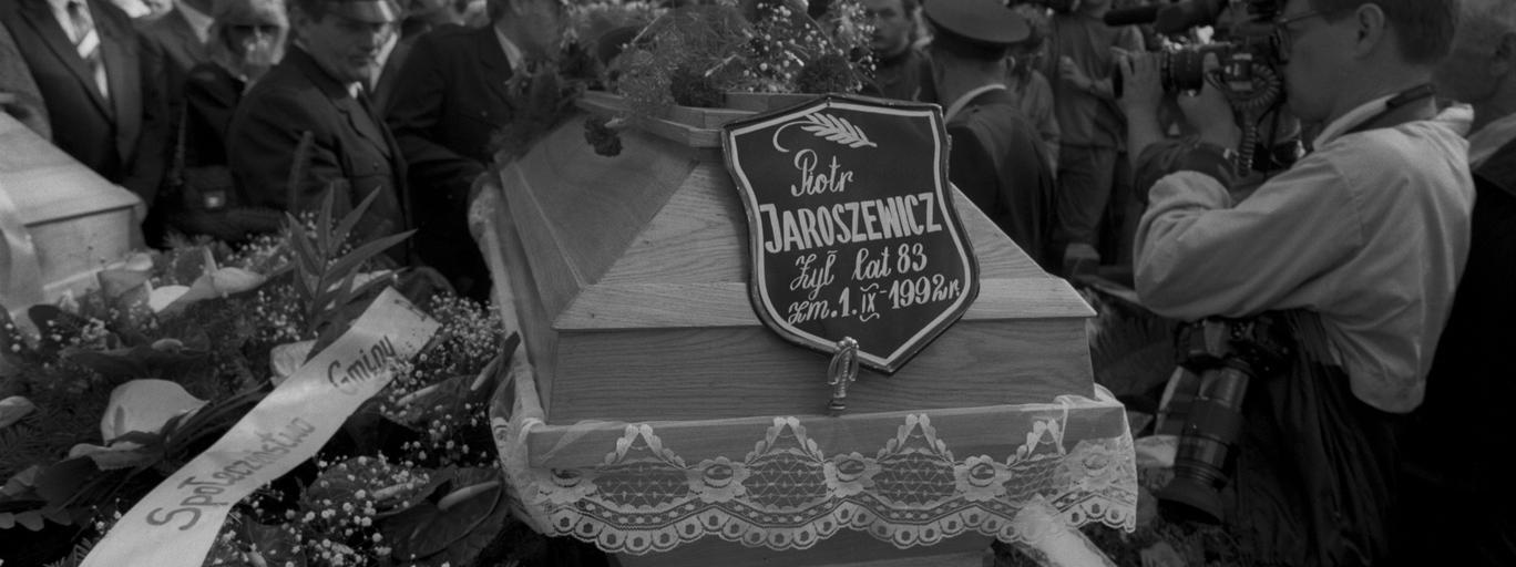 Pogrzeb Piotra Jaroszewicza i jego żony Alicji Solskiej-Jaroszewicz na Powązkach Wojskowych