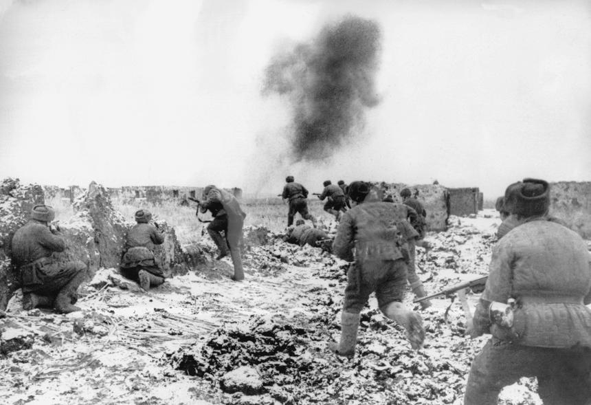 Sowieckie oddziały walczące o Stalingrad