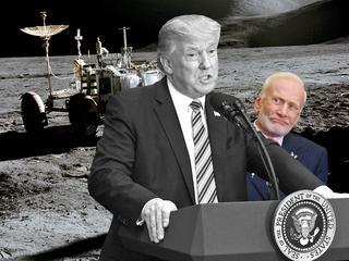 Był drugim człowiekiem na księżycu, ale to Trump sprawił, że Buzz Aldrin podbił światowy internet