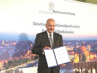 Dutkiewicz uhonorowany Niemiecką Nagrodą Narodową