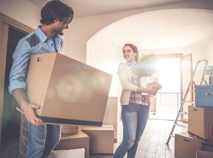 Nowe mieszkanie młodej pary