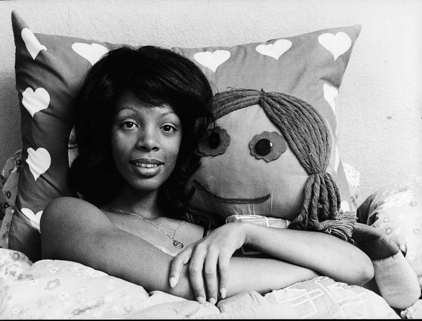 Donna Summer w swoim domu w Monachium w 1977 roku