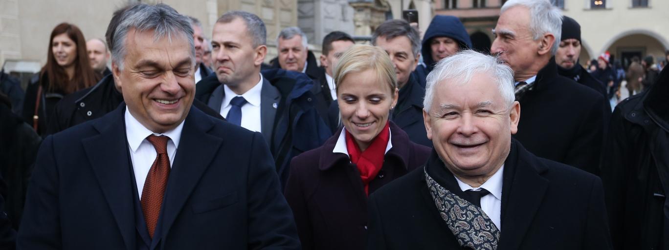 Jaroslaw Kaczynski i Viktor Orban na Wawelu