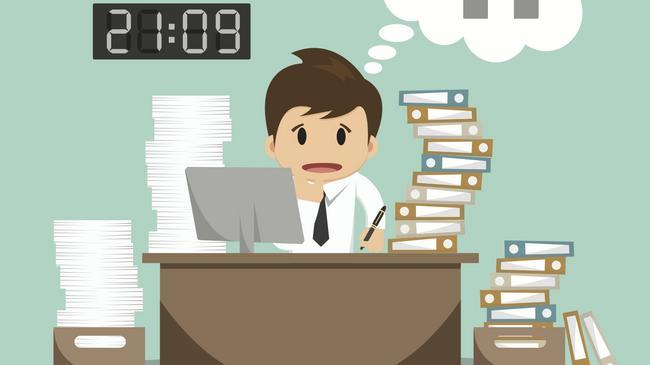 Praca korporacja pracoholizm stres rynek pracy zatrudnienie firma biuro pracownik