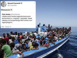 """""""Wreszcie!"""". Ryszard Czarnecki pochwalił ostrzelanie hiszpańskiego statku ratującego uchodźców"""