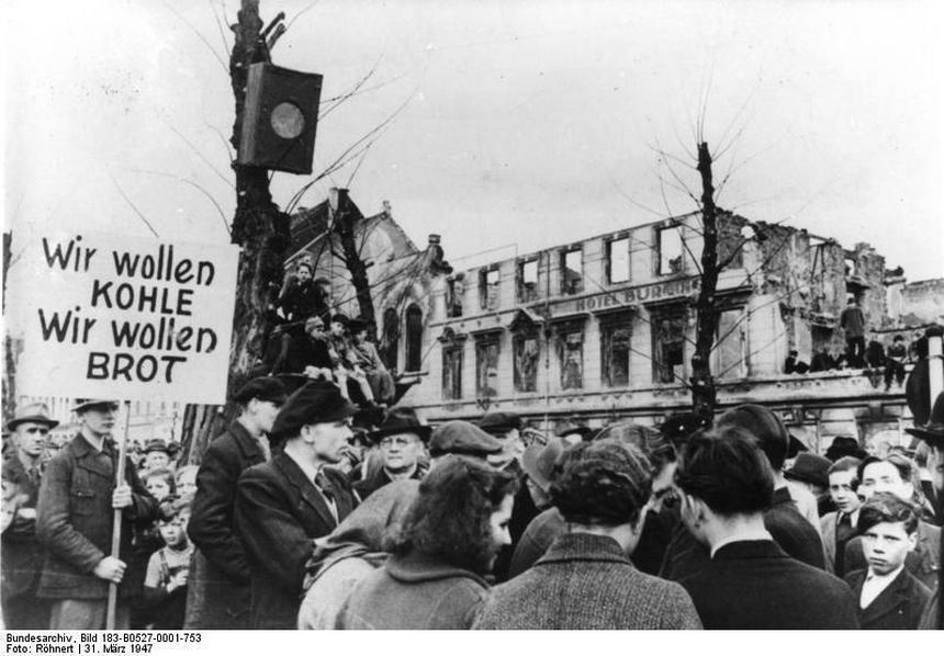 Protest głodujących w Niemczech.