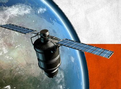 kosmos satelita polska flaga ziemia