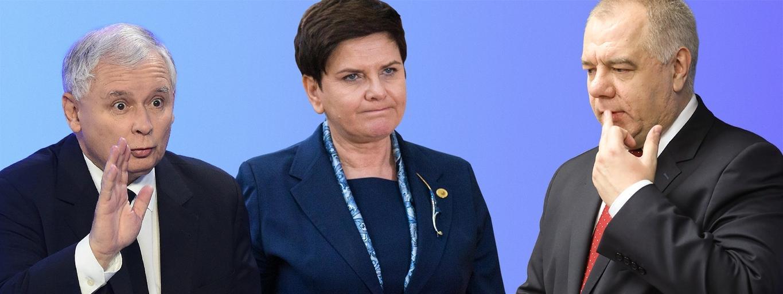 Jarosław Kaczyński, Beata Szydło, Jacek Sasin