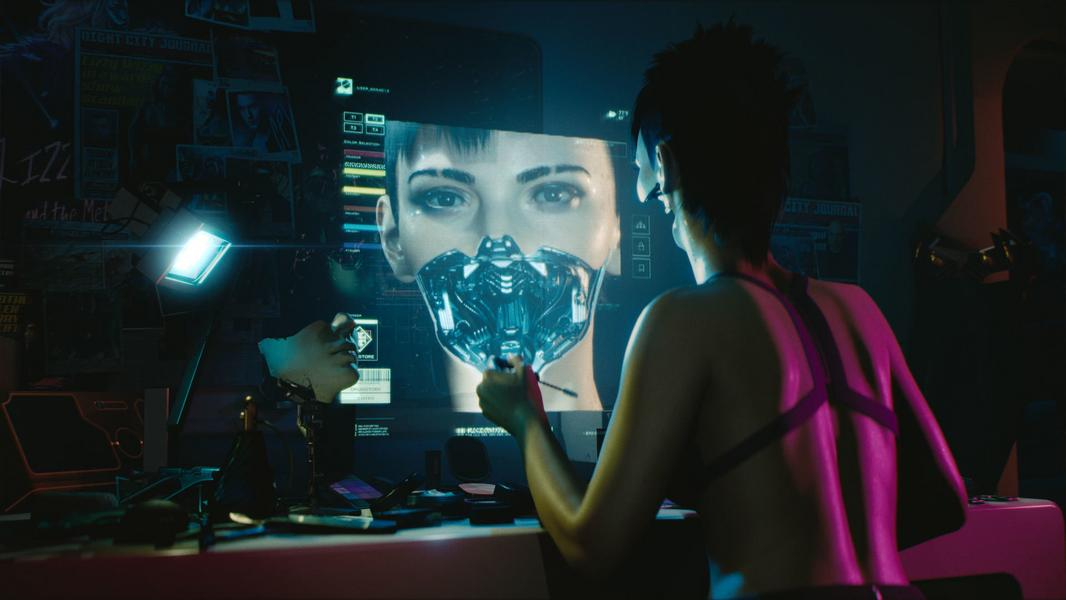 "Screen z gry ""Cyberpunk 2077"""