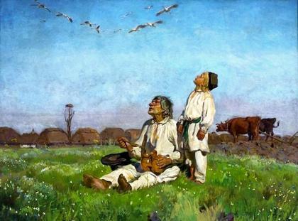 """Józef Chełmoński """"Bociany"""""""