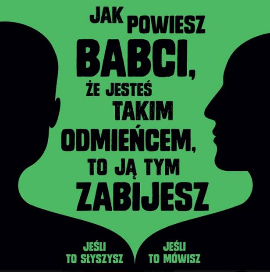 Jeden z plakatów kampanii Lambda Warszawa