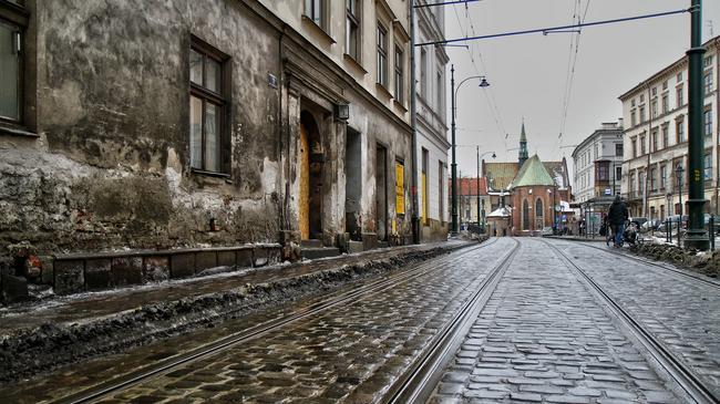 Kraków ulica kamienice
