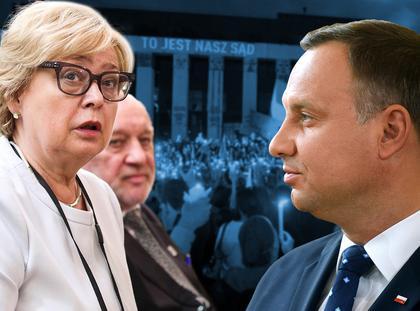 Sędziowie Małgorzata Gersdorf i Józef Iwulski kontra prezydent Andrzej Duda.