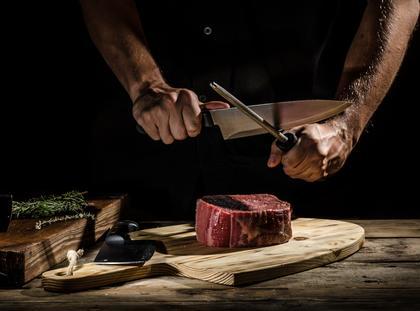 mięso nóż jedzenie kuchnia
