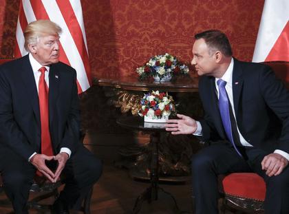 Donald Trump Andrzej Duda polityka dyplomacja Stany Zjednoczone Polska