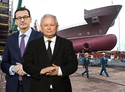 stocznie Jarosław Kaczyński Mateusz Morawiecki